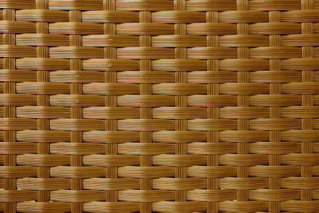 rattan mat: Brown woven rattan pattern background.