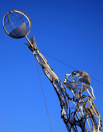 paraplegic: Paraplegic basketball sculpture