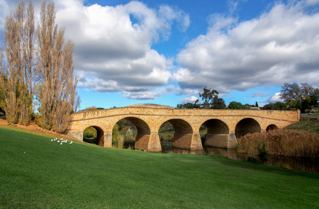 Richmond Bridge is a heritage listed arch bridge located on the B31 (Convict Trail) in Richmond, 25 kilometres (15.5 mi) north of Hobart in Tasmania, Australia