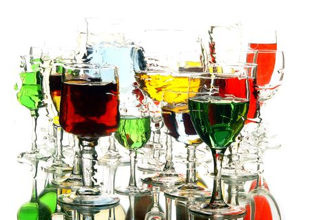 rainbow cocktail: cristal