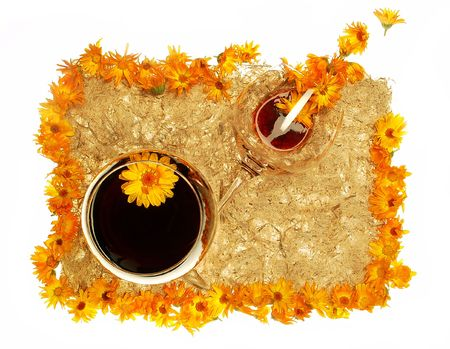 flower wine photo