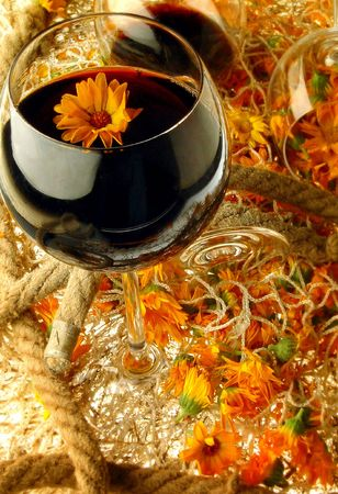 flower wine photo