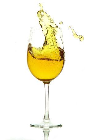 rainbow cocktail: glass Stock Photo