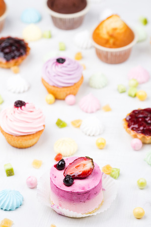 chocolaty: Small cakes with different stuffing