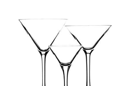 martini glasses: Martini glasses on white