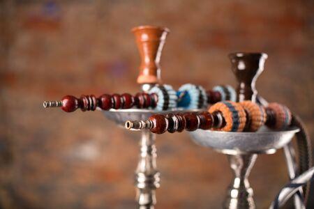 turkish ethnicity: Eastern hookahs on table