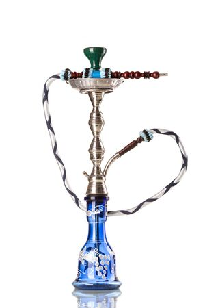 turkish ethnicity: Eastern hookah on white background