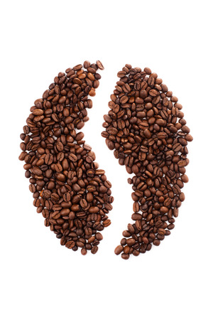coffe bean: Big coffe bean isolated on white background