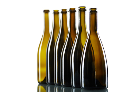 Empty bottles isolated over the white background Stock Photo