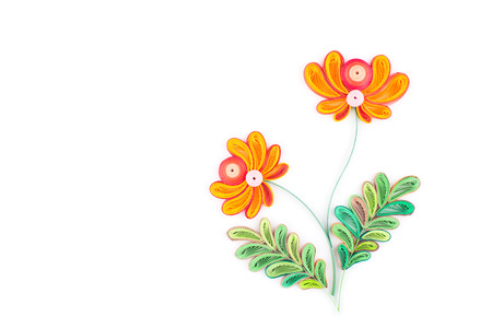 quilling: Paper quilling,colorful paper flowers