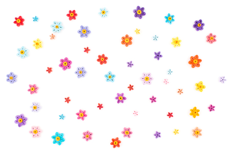 quilling: Paper quilling,colorful paper circles background