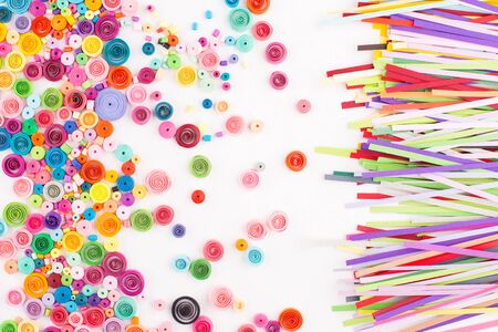 quilling: Paper quilling,colorful paper circles Stock Photo