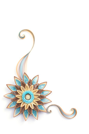 quilling: flower made quilling on a light background