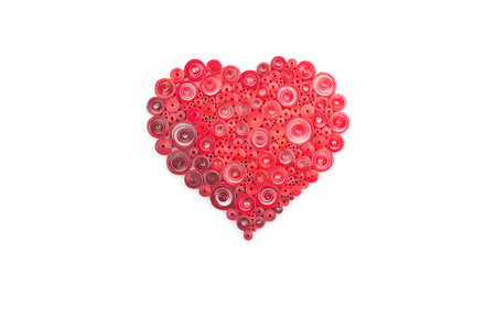quilling: Hand made of paper quilling technique. Valentines day. Love concept.