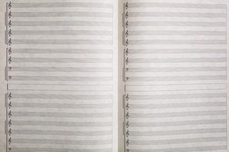 musical score: Abstract music sheet on white, seamless pattern.