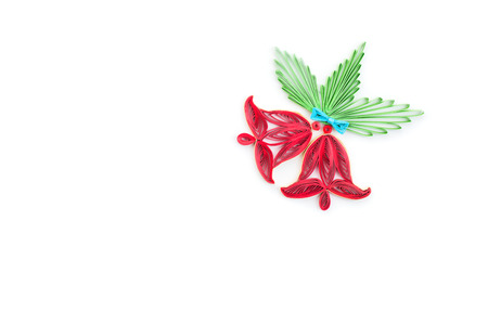flower made quilling on a light background.