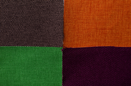 Different colorful textile as background