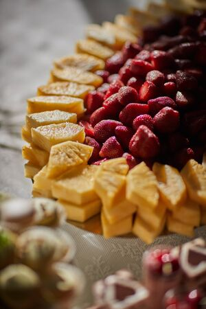 fruit on the wedding table
