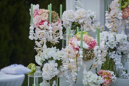 floristry, different types of flowers, wedding decoration, Reklamní fotografie