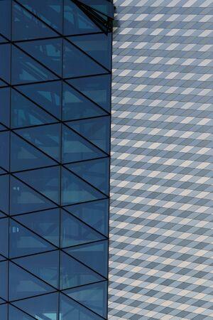 glass facade of a skyscraper in a megalopolis Reklamní fotografie