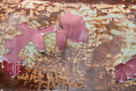 rust red: Steel sprayed red rust.Iron surface rust