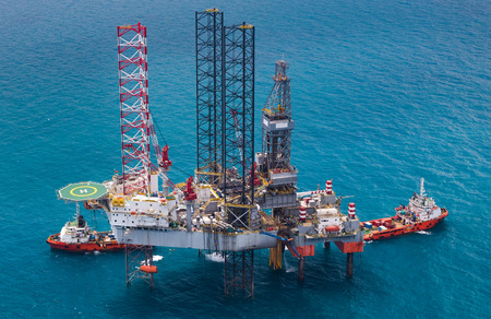 Offshore oil rig drilling gas platform