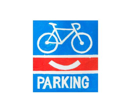 obey: parking for bicycles sign isolated on white background