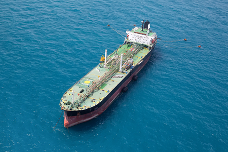 Oil tanker in the gulf of Thailand