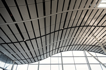 metal structure: Modern of metal roof structure of modern building