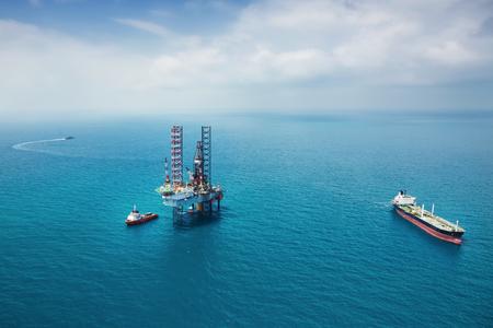 drilling platform: Offshore oil rig drilling platform Stock Photo
