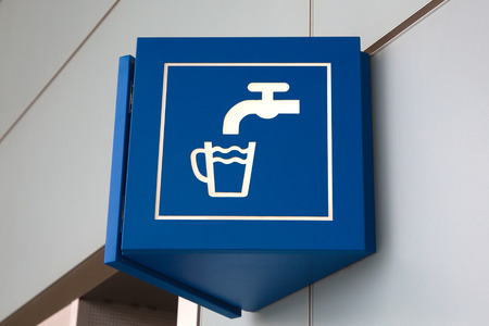 drinking water sign: Drinking water sign in airport