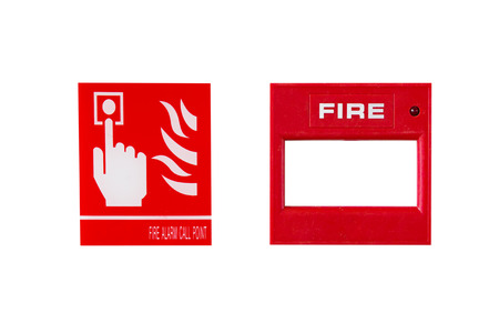 intonation: Fire alarm sign isolated on white background