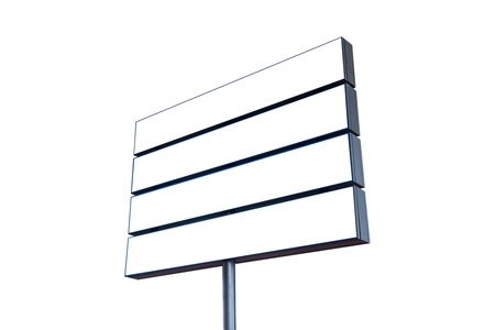 adboard: Blank Road Sign Isolated, Large White Frame Framed Roadside Signboard Copy Space Empty Signage