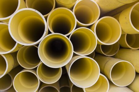 plastic conduit: PVC pipes for electric conduit (yellow)