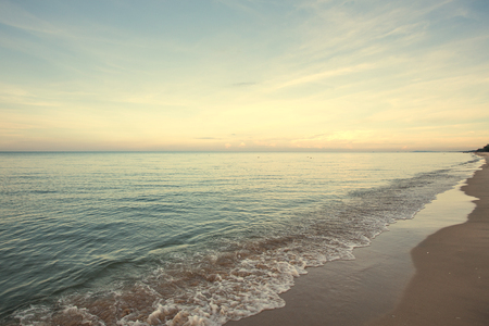 color tone: Serenity beach with color tone Stock Photo