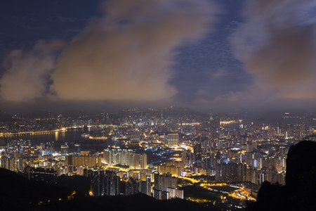Hong Kong Island from Kowloon Stock Photo