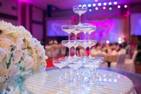 wedding feast: Champagne glasses celebration