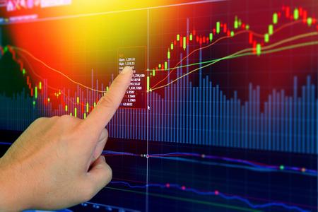 financial market: Stock market on display,success concept. Stock Photo