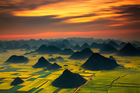 Landscape of Golden rooster hill:Luoping,Yunnan,China.