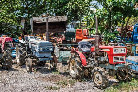 Old Junk Cars On Junkyard Redakční