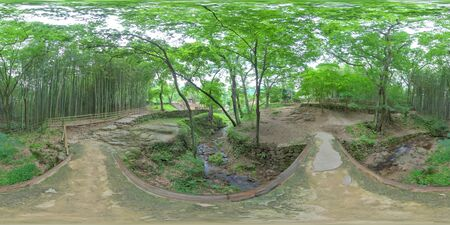 360 degrees spherical panorama of soswaewon in Damyang.