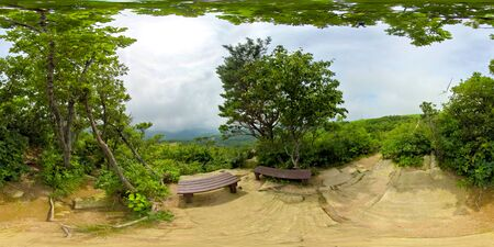 360 degrees spherical panorama of Samyang Ranch where is famous sheep farm ranch.