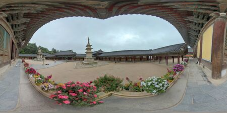 360VR Bulguksa Temple. Bulguksa Temple is a representative relic of Buddhist culture from the Silla kingdom.