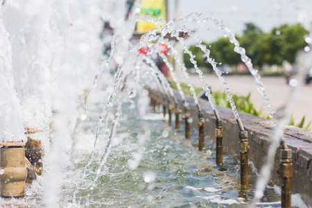 adds: The fountain that adds oxygen to the water.