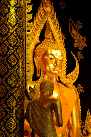 veneration: Buddha art in Thai temple Editorial