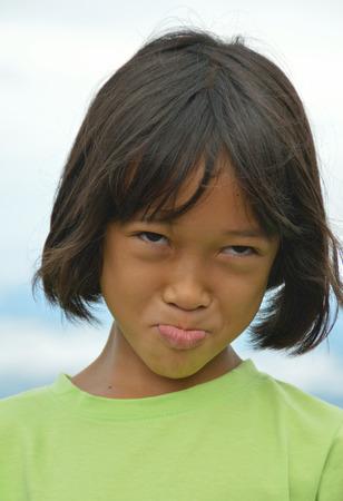 innocent: Innocent and lovely Asian little girl