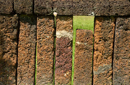 laterite: laterite stone wall Stock Photo