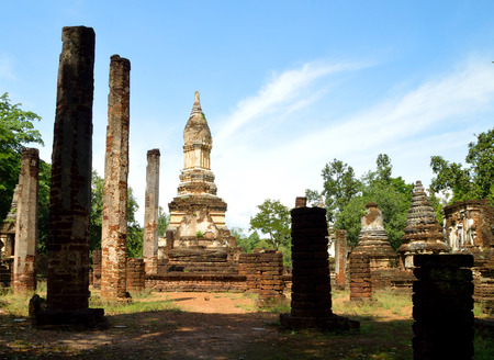 historical: Historical Park in Thailand Stock Photo