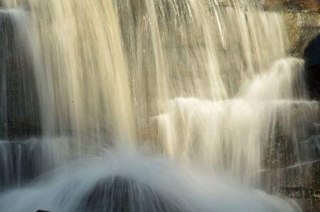 attraction: beautiful waterfall, summer tourist attraction