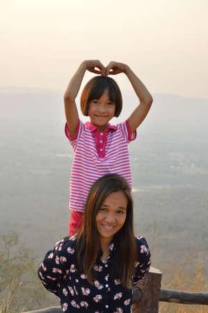 happy asian family Stock fotó